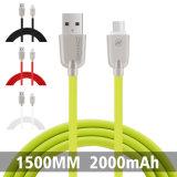 C3420 2.4A 1.5M TPE en alliage de zinc Material Data Câble micro USB (blanc)