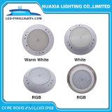 Indicatore luminoso subacqueo riempito resina bianca calda di colore LED di RGB di bianco per la piscina