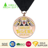 Medaglie animali del ricordo delle tigri del metallo di alta qualità del fumetto duro su ordinazione dello smalto con il nastro in bianco