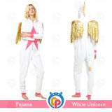 Cosplay Traje de lujo Blanco Unicorn pijama de franela