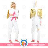 Flanela de roupa de luxo Cosplay Unicórnio Branco pijamas