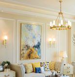 Grande attaccatura dell'hotel semplice moderno della decorazione intorno all'illuminazione del lampadario a bracci del LED
