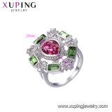 Monili blu dell'anello di diamante della pietra preziosa di modo