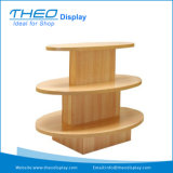 Ronda 3 Capas/Oval/cuadrado de madera Soporte de pantalla tienda de ropa de mesa para mostrar