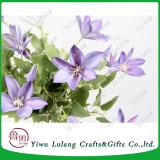Crema de color púrpura de calidad superior decoración Flores artificiales para el hogar de orquídeas