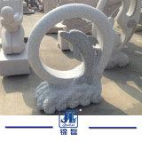 Het grijze Standbeeld van het Karakter van het Beeldhouwwerk van de Steen van het Graniet Dierlijke en het Snijden voor Terras