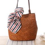 Новейшие высокое качество ручной работы женщин сумочку сумки через плечо соломы