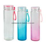 300ml löschen Heißwasser-packende Glasflasche mit Plastikschutzkappen-und Silikon-Hülse