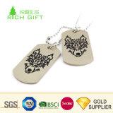 卸し売り中国のカスタム安い人のための金属によって陽極酸化されるアルミニウム多彩な印刷されたドッグタッグ