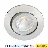 Kippbare Befestigungs-Decken-Beleuchtung-Vorrichtungen des Aluminium-GU10 Downlight