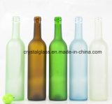 Frost-Wein-Glasflasche mit Korken