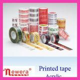 Band van de Verpakking BOPP/OPP van de douane de Embleem Afgedrukte Acryl