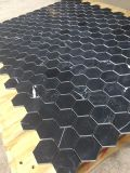 Nero Marquina/Qualitäts-Marmorbienenwabe-Panel-Mosaik