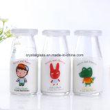 Joghurt-Glasglas, freier Pudding-Glasflasche mit Plastikkappe 100ml