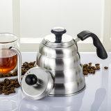 コーヒーメーカーのツールの1L、1.2Lステンレス鋼コーヒー滴りの鍋および温度計が付いているやかん