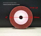 """4 Cor Cinza"""" a 12"""" as rodas de polimento de fibra"""