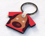 Keyring de madeira da forma do t-shirt para o Sublimation