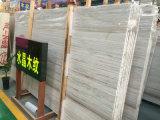 Mattonelle poco costose della lastra della venatura del legno di prezzi, marmo bianco per la parete