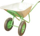 De zink Geplateerde Kruiwagen van het Wiel van het Hulpmiddel van de Bouw van het Dienblad (WB - 5206)