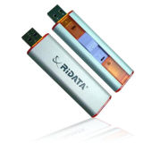 De plástico blanco plateado de 8GB USB, USB Pen Drive USB Flash Drive (PZP914)