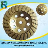 Rodas do copo do diamante de Romatools para o granito, concreto, mármore