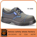 Saicou 버팔로 가죽 Sc 2588가 강철 발가락 경량 상표 산업 안전에 의하여 구두를 신긴다