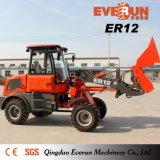 Caricatore compatto contrassegnato della rotella di Everun 1.2ton della macchina agricola del CE