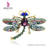 Brooch della lega del Rhinestone di figura della libellula di Jewellry di modo della qualità superiore