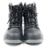 Ботинок безопасности высокой черноты кожи действия отрезока ровной стальной
