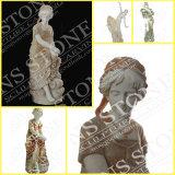 Quatre filles de saisons à Carrare blanc Ms-069 de marbre