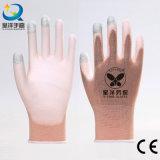 [13غوج] لون قرنفل كسا نيلون أو بوليستر قشرة قذيفة إصبع [بو] [تووش-سكرين] أمان عمل قفّاز ([بو2007])
