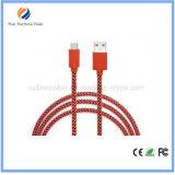 인조 인간 케이블을%s 매력적인 마이크로 작풍 USB 케이블 중국제