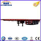 판매를 위한 세 배 반 차축 20/40FT 평상형 트레일러 콘테이너 트레일러