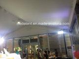 350 personas Exhibtion Carpa Blanca con puerta de vidrio para el alquiler de cubierta