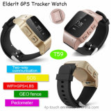 Los adultos Tracker GPS Reloj con botón sos para ayudar a (T59).