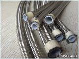 Boyau en caoutchouc hydraulique de teflon de pouce de SAE100 R14 Ss304 1/2