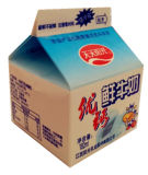 250ml Gable Top Carton para leite fresco