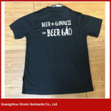 OEM van Guangzhou Fabrikant van de Fabriek van de T-shirt van de Manier van de Druk van de Douane de Unisex- (R165)