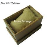 Caixa de couro preta do pacote do relógio do presente Jy-Wb06