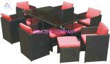 Strato stabilito della piattaforma della mobilia del PE del sofà di vimini sezionale esterno del rattan