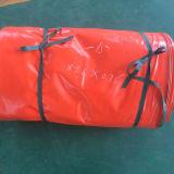 tela incatramata impermeabile ignifuga resistente arancione del PVC della copertura di 840d 510GSM Tarps