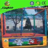 Trampoline прямоугольника с сетью безопасности для малышей (LG055)