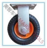 산업 압축 공기를 넣은 고무 타이어 피마자 바퀴