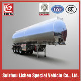 3-Axle 6 Tires 43cbm Aluminum Edible Oil Tank Semi Trailer