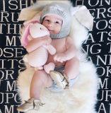 Véritable tapis de peau de mouton australien unique Tapis bébé Pelt White