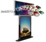 """42"""" de doble soporte para monitor Quiosco Caso 4k Panel LCD Panel LCD 42 hace publicidad del jugador"""