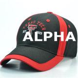 Gorra de béisbol negra/roja para las personas del ciclo de motor