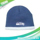 Acrylique couleur bleu Bonnet tricoté/tricot unisexe hiver Chapeau chaud (020)