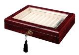 Caixa de indicador de madeira do presente do lustro elevado do piano