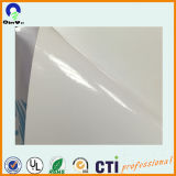 1.27*50m 120 gramos de color blanco de PVC autoadhesivo pvc para carrocería pegatina